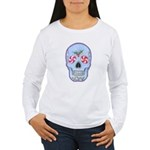 Christmas Skull Women's Long Sleeve T-Shirt