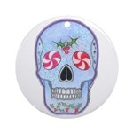 Christmas Skull Ornament (Round)