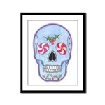 Christmas Skull Framed Panel Print