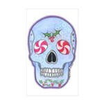 Christmas Skull Sticker (Rectangle 50 pk)