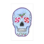 Christmas Skull Sticker (Rectangle 10 pk)