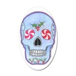 Christmas Skull 22x14 Oval Wall Peel