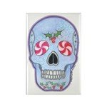 Christmas Skull Rectangle Magnet (10 pack)