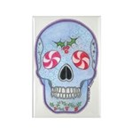 Christmas Skull Rectangle Magnet