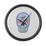 Christmas Skull Large Wall Clock