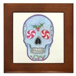 Christmas Skull Framed Tile