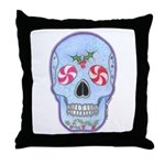 Christmas Skull Throw Pillow