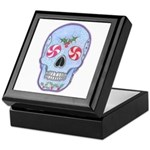 Christmas Skull Keepsake Box
