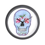Christmas Skull Wall Clock