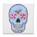 Christmas Skull Tile Coaster