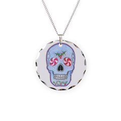 Christmas Skull Necklace