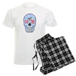 Christmas Skull Men's Light Pajamas