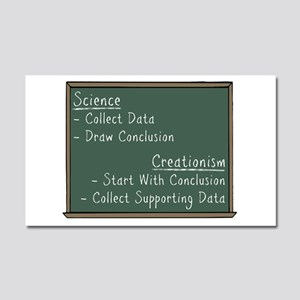 Science vs Creationism Car Magnet 20 x 12