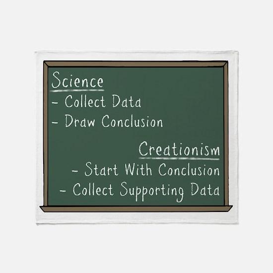 Science vs Creationism Throw Blanket