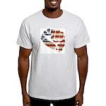 American Flag Fist Light T-Shirt
