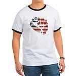 American Flag Fist Ringer T
