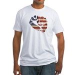 American Flag Fist Fitted T-Shirt