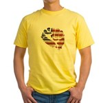 American Flag Fist Yellow T-Shirt