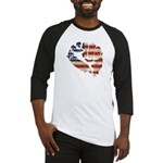 American Flag Fist Baseball Jersey