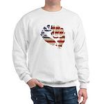 American Flag Fist Sweatshirt