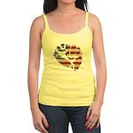 American Flag Fist Jr. Spaghetti Tank