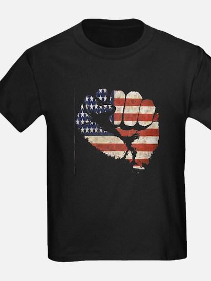 American Flag Fist T