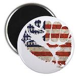 American Flag Fist Magnet