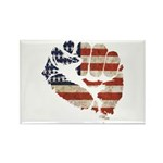 American Flag Fist Rectangle Magnet (10 pack)
