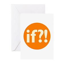 if?! orange/white Greeting Cards (Pk of 20)