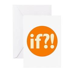 if?! orange/white Greeting Cards (Pk of 10)