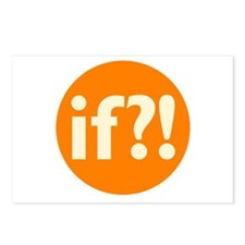 if?! orange/white Postcards (Package of 8)