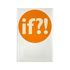 if?! orange/white Rectangle Magnet