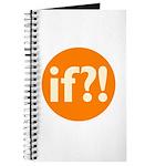 if?! orange/white Journal