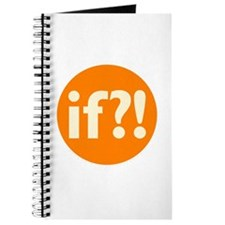 if?! orange/white Journal