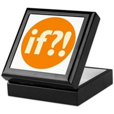 if?! orange/white Keepsake Box
