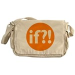 if?! orange/white Messenger Bag