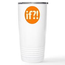 if?! orange/white Stainless Steel Travel Mug
