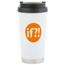 if?! orange/white Stainless Steel Travel Mug