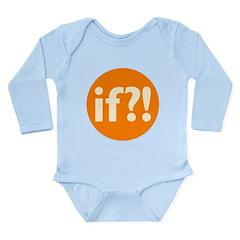 if?! orange/white Long Sleeve Infant Bodysuit