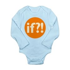 if?! orange/white Long Sleeve Infant Bodysuit