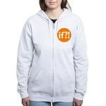 if?! orange/white Women's Zip Hoodie