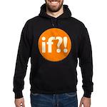 if?! orange/white Hoodie (dark)
