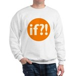 if?! orange/white Sweatshirt
