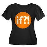 if?! orange/white Women's Plus Size Scoop Neck Dar