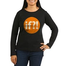 if?! orange/white Women's Long Sleeve Dark T-Shirt