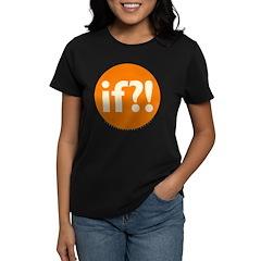 if?! orange/white Women's Dark T-Shirt
