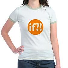 if?! orange/white Jr. Ringer T-Shirt