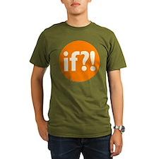if?! orange/white Organic Men's T-Shirt (dark)
