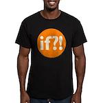if?! orange/white Men's Fitted T-Shirt (dark)