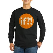 if?! orange/white Long Sleeve Dark T-Shirt